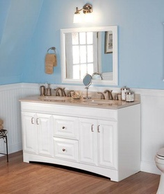 Storage Organization And Accessibility Dilemmas Are Solved With This Providence Vanity Cabinet Only In White From St
