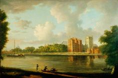 Lambeth Palace and St Mary's Church with St Paul's by William Marlow, c.1770 (c) Government Art Collection; Supplied by The Public Catalogue Foundation