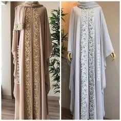 No photo description. Moslem Fashion, Arab Fashion, Islamic Fashion, African Fashion, Abaya Pattern, Hijab Stile, Hijab Trends, Abaya Designs, Muslim Dress