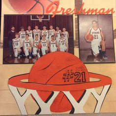 Scrapbook layout basketball