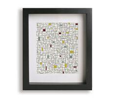 Maps / Yeah Yeah Yeahs - Music Lyric Art - gift for him, modern art, home decor, wall art, typography print, geometric, A4, anniversary gift