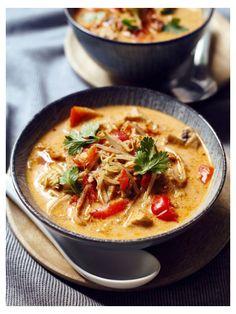 Thermomix recipe: Coconut soup Tom Kha Gai - Recipe for the Thermomix: Tom Kha . - Thermomix recipe: Coconut soup Tom Kha Gai – Recipe for the Thermomix: Tom Kha Gai soup – - Hamburger Meat Recipes, Sausage Recipes, Soup Recipes, Drink Recipes, Asian Recipes, Healthy Recipes, Ethnic Recipes, Thermomix Soup, Vegetable Soup Healthy