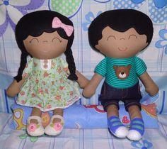 Meu casal de mulatinhos, coisa mais linda e cheios de charme. Maria Flor e João Sabido.♥