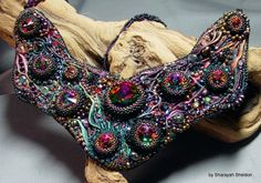 NORTHER LIGHTS: SHIBORI Bead Embroidered Necklace