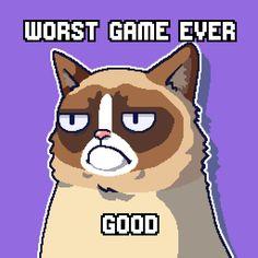 I scored 90 in Grumpy Cat's WORST-GAME-EVER. Download http://grumpy.cat/GCWorstGameEver #GrumpyCat #WorstGameEver