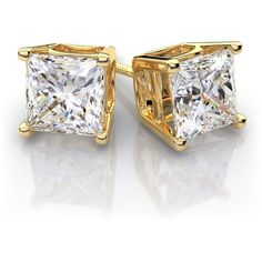 diamond stud earrings, gold because allergic to silver!!