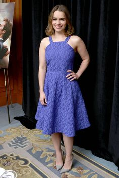 Emilia Clarke- Me Before You Press Conference