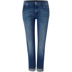 7 For All Mankind Relaxed skinny jean in alabama mid wash ($140) ❤ liked on Polyvore featuring jeans, jeans/pants, denim mid wash, sale, saggy skinny jeans, relaxed fit jeans, blue skinny jeans, boyfriend jeans and skinny leg jeans
