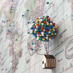 Balloon Pin House #Balloon, #House, #Pin                                                                                                                                                     Más
