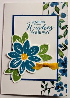 Monday, 12 January 2015 Creating Cards with Andrea: Painted Blooms DSP, Petal Potpourri