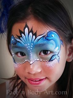 Awesome under the sea face painting mask