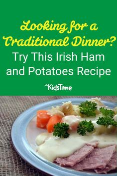 Looking for a Traditional Dinner? Try This Irish Ham and Potatoes Recipe Ham And Potato Recipes, Potatoe Dinner Recipes, Irish Dinner, Nutritious Meals, Family Meals, Mashed Potatoes, Dinners, Favorite Recipes, Traditional
