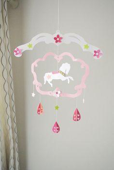 3D Carousel Paper Baby Mobile  Nursery Room Decor by onigirinyc, $45.00