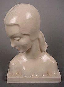 Art Deco Busts circa 1930s.  American Art Clay Company, Inc., Indianapolis, Indiana