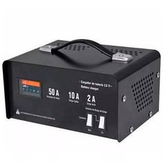 Cargador de baterías 50 amperes ideal para la carga de baterías o arranque de motores de autos, motos, botes y equipos agrícolas  incluye caimanes de acero. #Cargador #Auto #moto #batería #Regalo #México