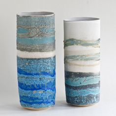 seascape ovals by sarah perry Glazes For Pottery, Pottery Art, Pottery Ideas, Ceramic Clay, Ceramic Vase, Ceramic Techniques, Clay Vase, Pottery Classes, Ceramics Projects