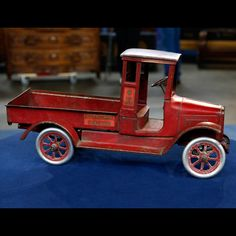 A Buddy L Red Toy Truck