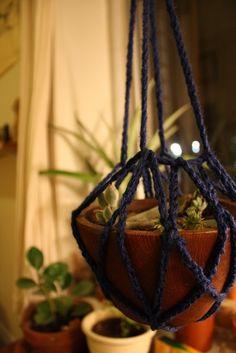 crochet plant hanger.