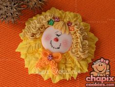 Scarecrow girl on a Sunflower for Pam ♥ | by Chapix Cookies