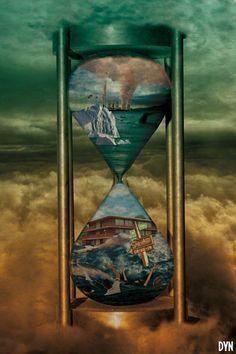 sand hourglass art - Google Search
