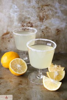 Meyer Lemon Drop by Heather Christo. I love anything made with Meyer lemons. Party Drinks, Cocktail Drinks, Fun Drinks, Yummy Drinks, Cocktail Recipes, Alcoholic Drinks, Drink Recipes, Lime Recipes, Bar Recipes