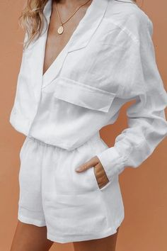Look Fashion, Fashion Outfits, Fashion Design, Look Con Short, Casual Outfits, Summer Outfits, Style Minimaliste, Dress Up Costumes, Shorts With Pockets