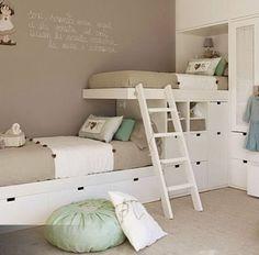 Kids' bedroom! Bunk bed idea: