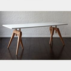 Looks pretty close to my first desk at Lamar. Compass Table Legs - Office + Storage