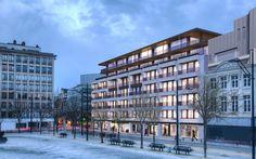 Winter villa |  Vastgoedkantoor Huysewinkel  #vastgoed #villa #winter #exterior #penthouse #modern