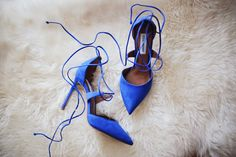 The perfect holiday shoe, in every fun shade! I love this electric cool blue for winter pair =