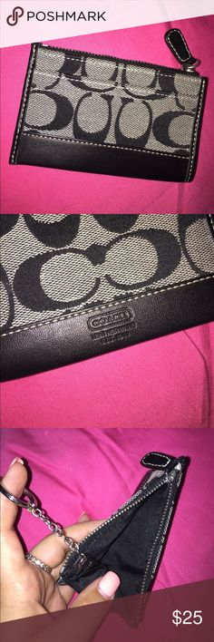 Coach card holder Perfect size for your keys, because it is also a keychain !!! Coach Bags Wallets