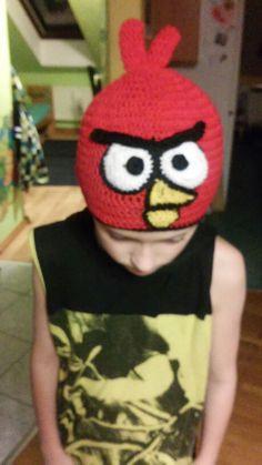 Crochet boy hat angry bird
