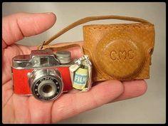 Vintage RED CMC MINIATURE SPY CAMERA & FILM
