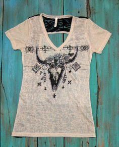 Rhinestone Longhorn Shirt $19.99