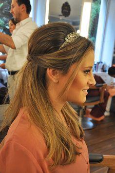 Penteado com headband para Bruna Aliperti.