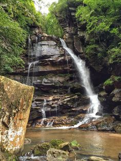 Big Bradley Falls, Saluda, NC Address:Little Bradley Falls, Saluda, NC 28773 (off the beaten path)  1.7 Mile Hike Round Trip. Moderate, but small trail, and rope suspension down rock wall.