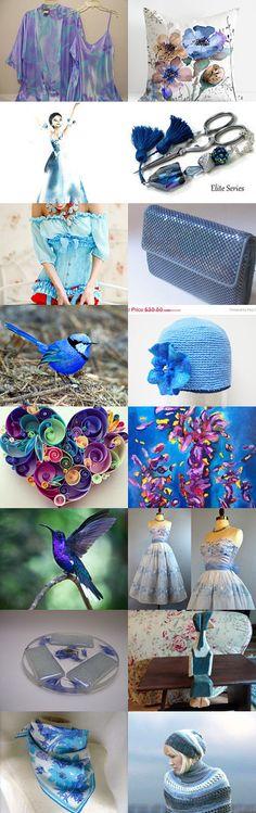 Blue Flower by Elżbieta Bielska on Etsy--Pinned with TreasuryPin.com