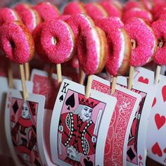 Alice in Wonderland - Party pops - food ideas - event ideas You could do this with anything else you could out on a skewer