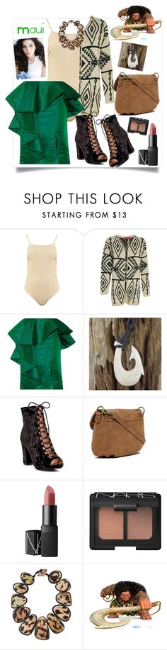 """Maui"" by bitty-junkkitty ❤ liked on Polyvore featuring Boohoo, Johanna Ortiz, Chase & Chloe, Elle & Jae Gypset, NARS Cosmetics and Viktoria Hayman"