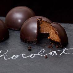Ginger and Orange Chocolate Bombe: flourless chocolate cake with ginger orange chocolate mousse