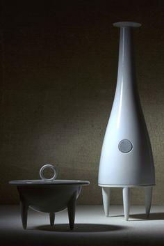 Porcelain Speakers for Philips by Damian O'Sullivan Design 1997