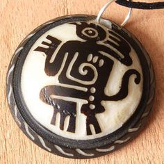 Hand Carved Mythical Creature Mens Pendant by ArtisansintheAndes #jewelry #primitiveart