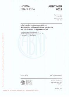 Abnt nbr 6024 2012 numeracao progressiva das secoes de um documento escrito