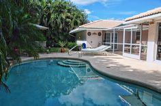 back yard/pool view