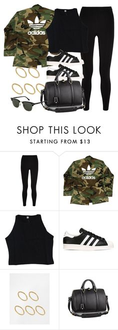"""""""Style #11504"""" by vany-alvarado ❤ liked on Polyvore featuring T By Alexander Wang, adidas, adidas Originals, Made and Topshop"""