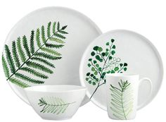 Margaret Berg Art: Fern Dinnerware