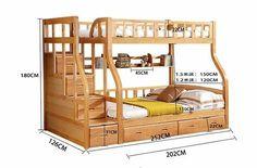 Litera moderna cama literas niños de madera de abedul cama en Camas de Muebles en AliExpress.com | Alibaba Group