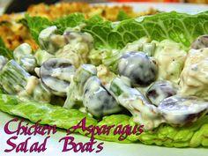 Eating Bariatric: Chicken Asparagus Salad Boats