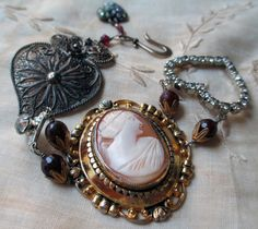'cameo love' bracelet by The French Circus on Etsy
