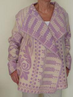 zomer jas van wollen deken. Ik maak ze in alle maten en kleuren van gebruikte dekens